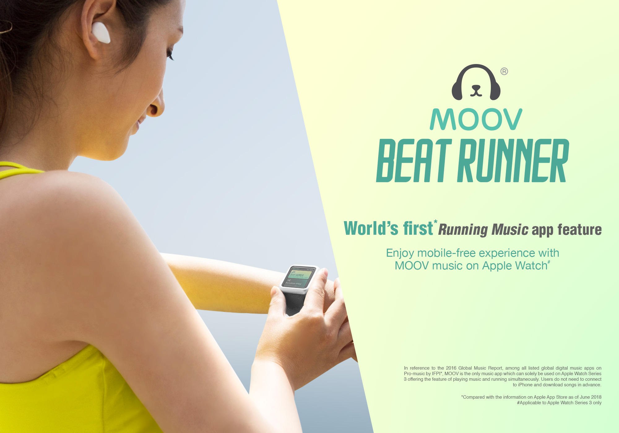 MOOV's Beat Runner debuts on Apple Watch Series 3 – PICANTE