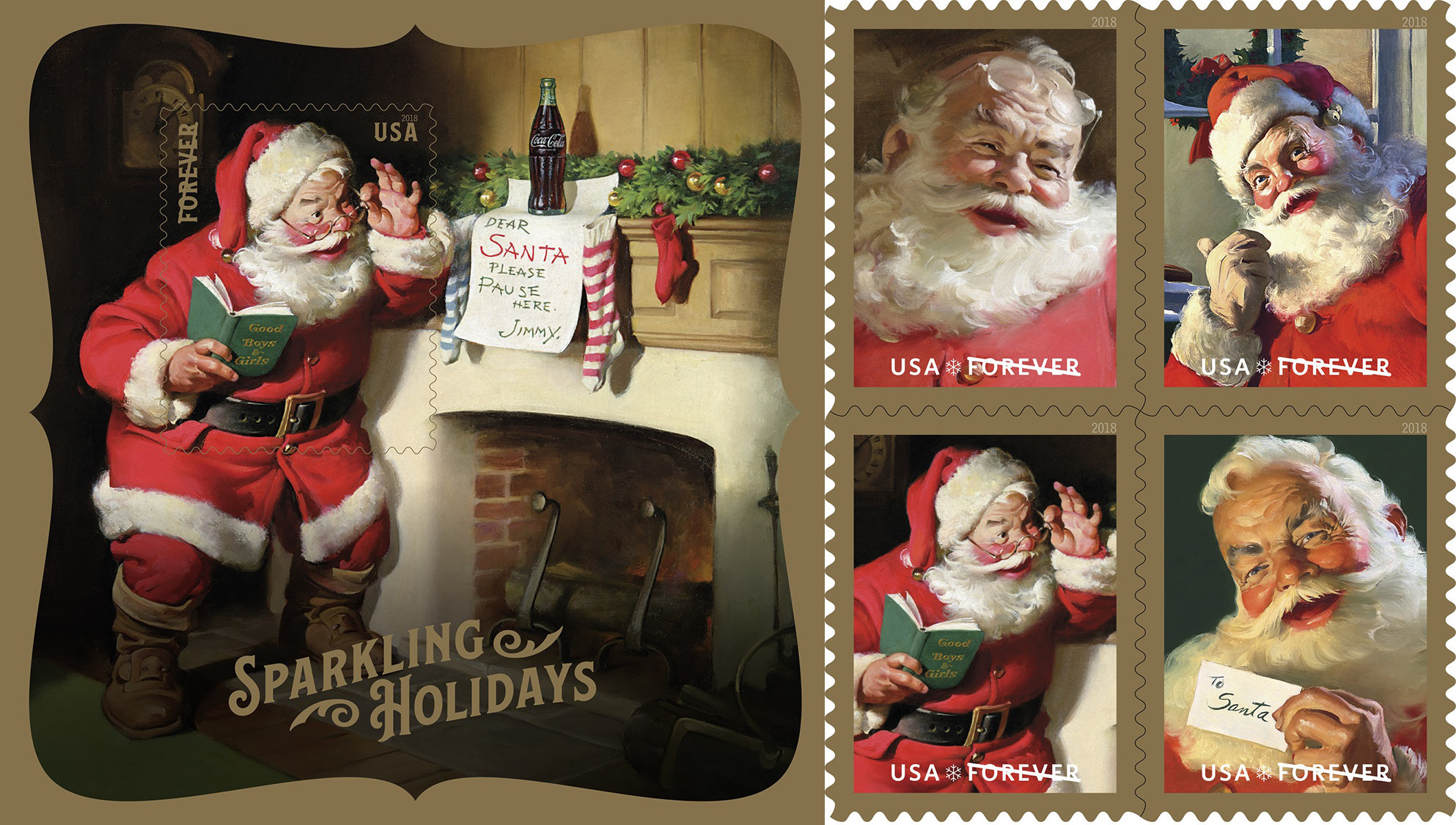Classic Santa Delivers Holiday Greetings Picante Today Hot News