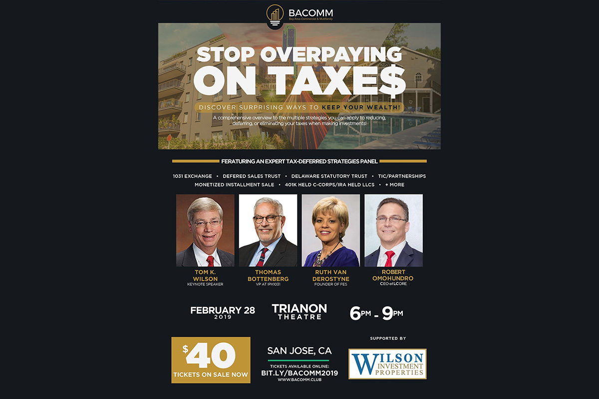 Silicon Valley Investment Club Hosts World Class Capital Gains Tax